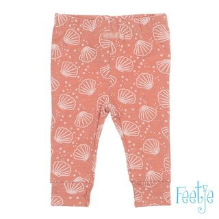 Feetje Baby Leggings in Rosa mit Muschelmotiven