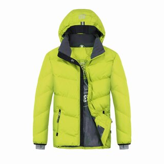 XSExes Wattierte Winterjacke in neon gelb